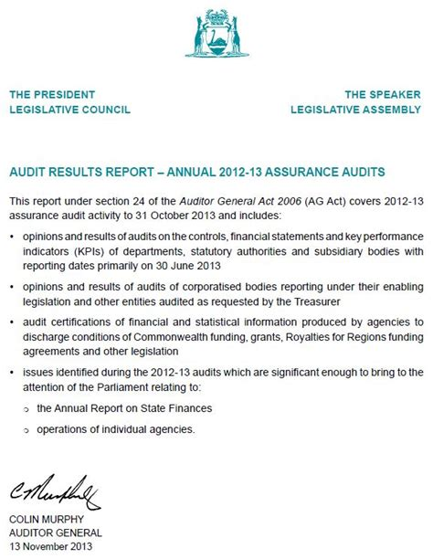 Audit Response Letter Uk Tabling Letter Office Of The Auditor General