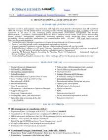 Human Resources Consultant Sle Resume by Resume Hr Manager Admin Consultant Mba 18 Years