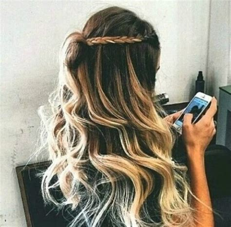 Blonde Hairstyles We Heart It | curly girl hair inspirational we heart it image