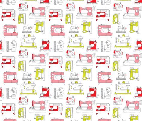 sewing pattern wallpaper vintage sewing machine fashion fabric wallpaper