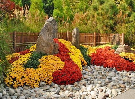 fall garden 22 floral installations and landscaping ideas with mums
