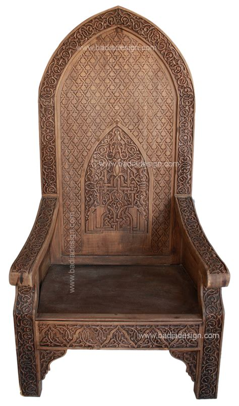 moroccan chair moroccan hand carved wood chair