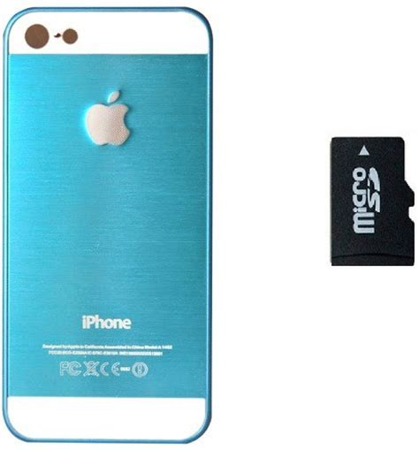 Memory Iphone 5s lowe back cover for apple iphone 5s with memory card 32gb sky blue imb5 312 accessory
