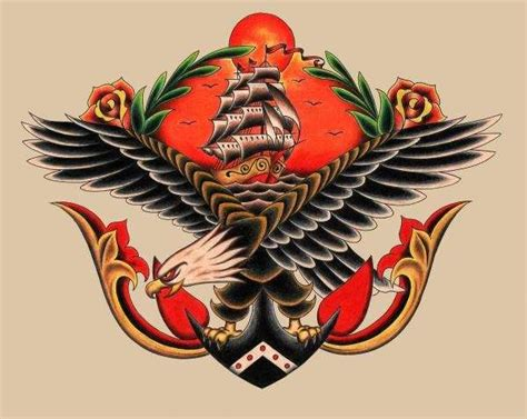 american traditional eagle tattoos american tradition tattoo art jpg work