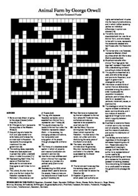 Animal Farm - Allegory / Symbols Crossword Puzzle by M