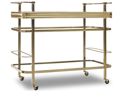Kitchen Bar Cart by Furniture Highland Park Gold Kitchen Bar Cart