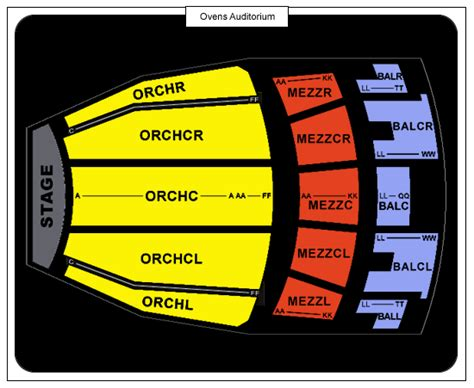 ovens auditorium seating ovens auditorium detailed seating chart car interior design