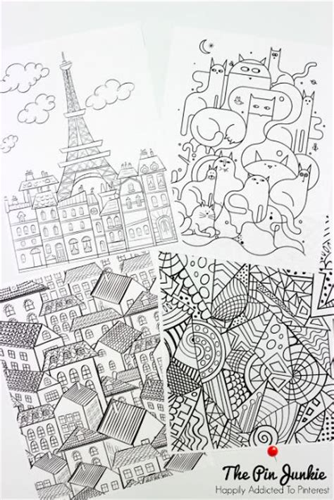 coloring page for grown ups printable the pin junkie coloring pages for grown ups