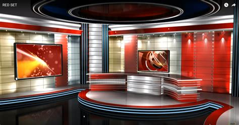 news room newsroom set free virtualset