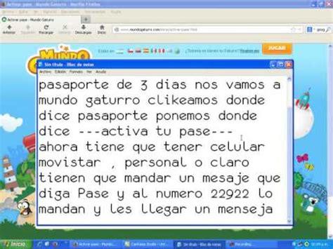 codigos de pasaporte de 3 dias mundo gaturro noticias como conseguir pasaporte en mundo gaturro por 3 dias youtube