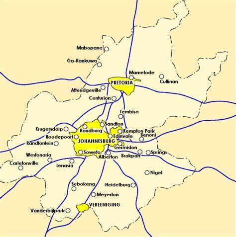 africa map johannesburg maps of johannesburg