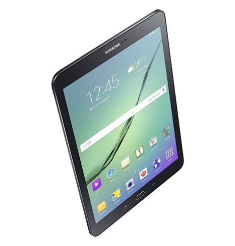 Konektor Samsung Tab 2 dynamic view of black galaxy tab s2 from left perspective