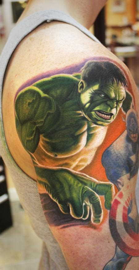 incredible hulk tattoos by steve wimmer tattoos