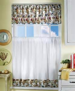 Rooster Kitchen Curtains Rooster Farm Chicken Country Kitchen Valance Curtainebay