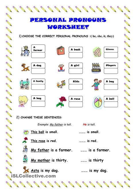 pronoun worksheet kindergarten personal pronouns worksheet kindergarten level learn for
