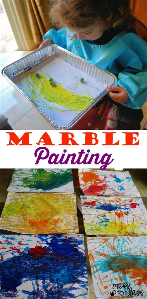 painting for preschoolers marvelous marble painting mess for less