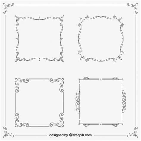 cornici ornamentali cornici ornamentali pacco scaricare vettori gratis