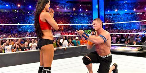 nikki bella proposal wrestlemania 33 a first john cena s marriage proposal to