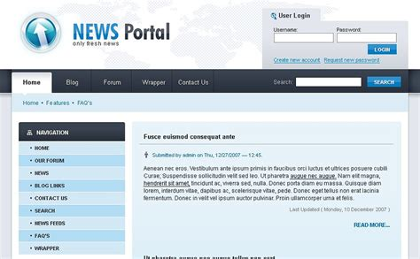 drupal themes news portal news portal drupal template 20890