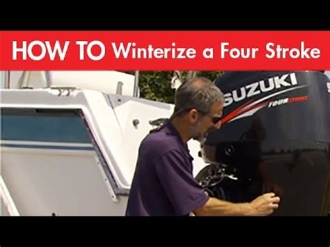 how to winterize a four stroke outboard boat motor boat winterization procedures volvo penta 5 7l gxi sx