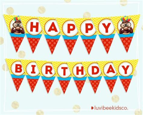 Curious George Printable Birthday Banner | party printables luvibeekidsco