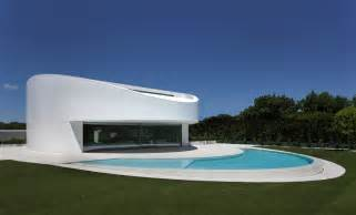 futuristic house elliptical shaped residence in spain with a futuristic
