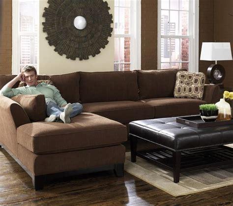 chaise lazy boy modern brown 2 piece lazy boy sectional with chaise for