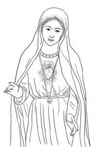 desenho de cora 231 227 o imaculado de maria para colorir