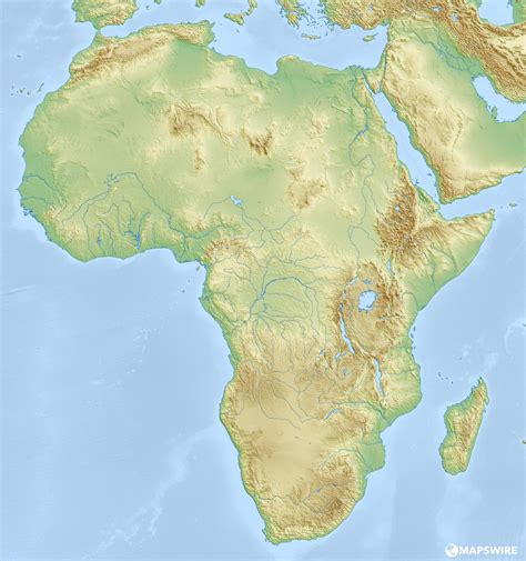 physical maps of africa free physical maps of africa mapswire