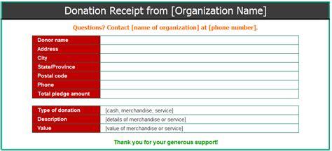 donation receipt sle template receipt template microsoft word templates