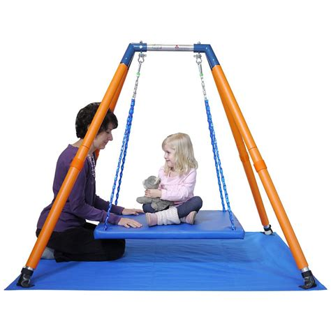 sensory swing frame haley s joy on the go swing frame and mat w o rotational