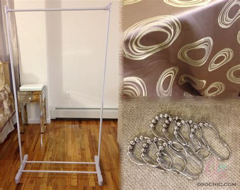 how to make curtain room dividers diy room divider o so chic blog