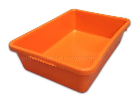 orange bathtub solid nesting plastic crates