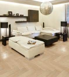Modern living room tile ideas with elegant maple wood flooring