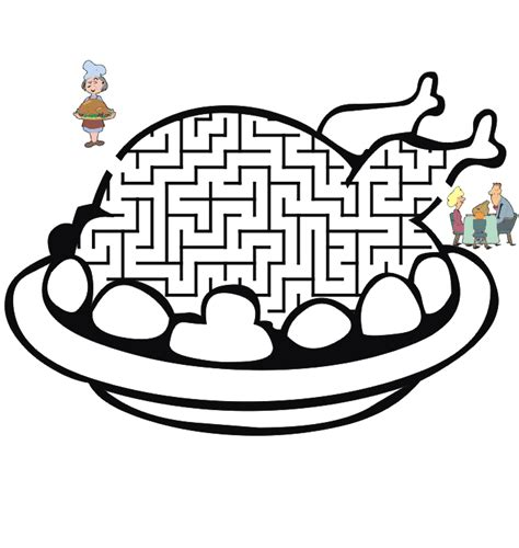 Free Printable Turkey Mazes | thanksgiving mazes word search games reflections of