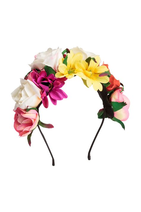Sehm04 Set Hm Pink Flower Flower hairband with flowers pink sale h m us