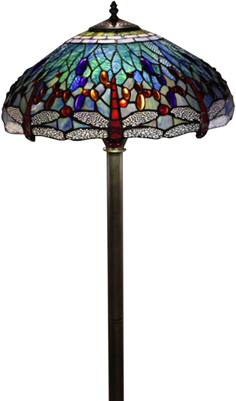 stained glass floor l floor l stained glass shade tiffany style dragonfly