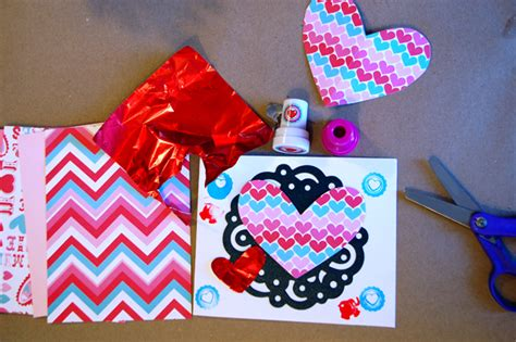 make your own valentines cards creative table s day cards tinkerlab