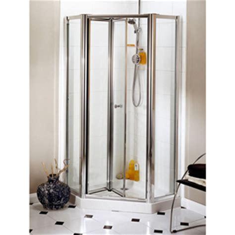 daryl shower doors daryl aroco bi fold pentagon shower enclosure uk bathrooms