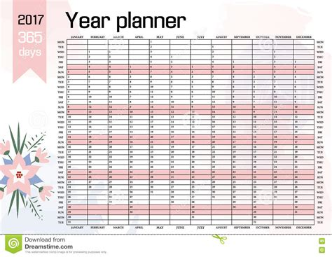 year planner template 2017 excel printable file infozio
