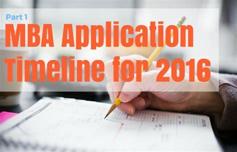 Mba Admissions Timeline by Mba Application Timeline For Fall 2016 Part 1