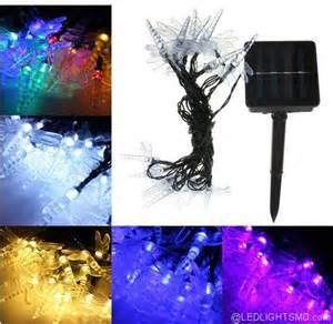 led solar powered fairy lights dragonfly solar powered led string fairy lights