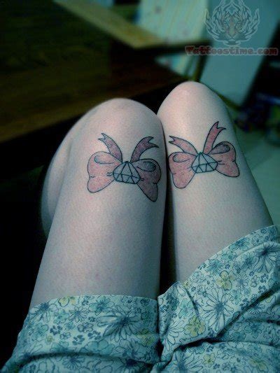 bow tattoo on thigh back thigh bow tattoos