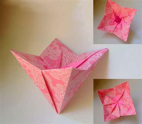 Origami Box Flower - origami pink flower box evi bizinger origami