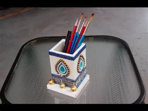 How To Make Pen Stand Using Paper - of a pencil pen holder
