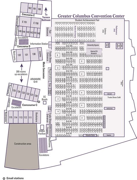 convention center floorplans 2015 osba capital conference and trade show maps