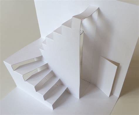 stair template blank pop up house you can color and decorate yourself