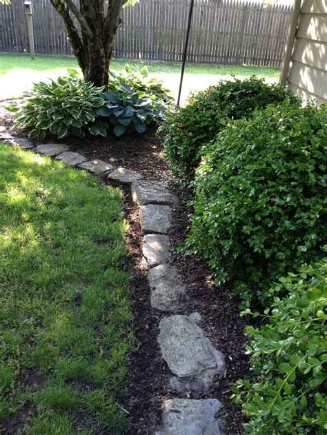 flower bed edging stone 10 best ideas about stone edging on pinterest landscape