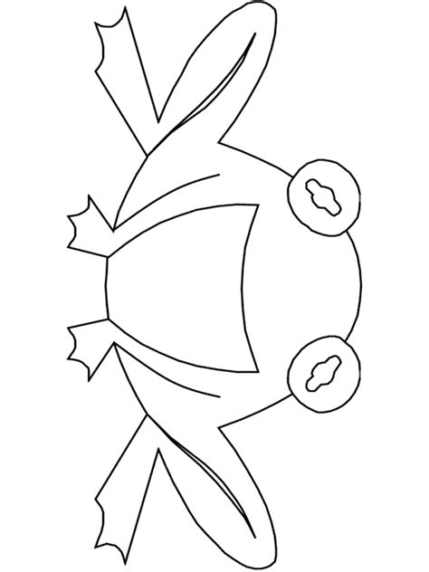 frog mask coloring page frog coloring page face color make mask images pictures