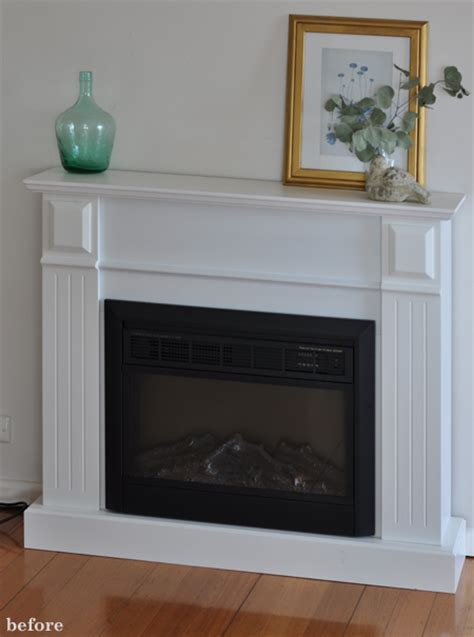 Electric Fireplace Makeover by The Painted Hive Easy Diy Marble Hearth And A Fireplace Makeover